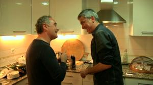 Ferran Adrià va visitar Albert Om a casa seva