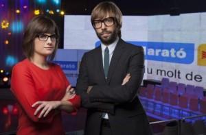 """Ariadna Oltra i Òscar Dalmau, els presentadors de """"La Marató"""" amb més recaptació de la història"""