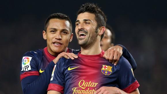 David Villa va ser un dels jugadors més destacats del partit d'ahir amb dos gols