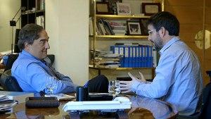 Jordi Èvole va entrevistar a Joan Rosell, president de la CEOE.