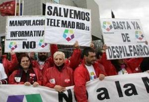 Finalment, la justícia ha donat la raó als treballadors acomiadats de Telemadrid.Font: Público.es