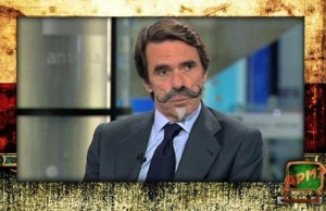 Aznar va ser un dels blancs de les bromes de l'APM d'ahir. Font: El Periódico