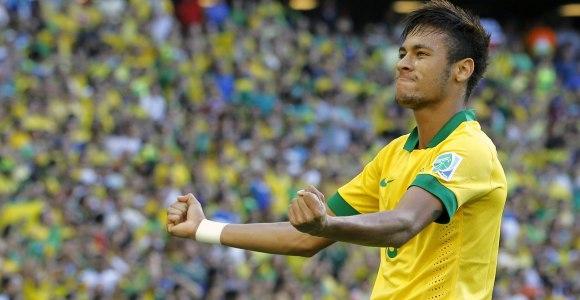 Neymar va ser un dels jugadors més destacats del partit.  Font: EFE