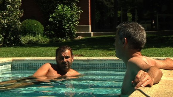 J.J. Vázquez i Albert Om en un moment de l'entrevista.