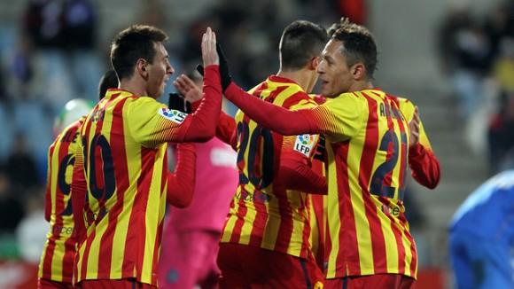 Messi va tornar a marcar ahir contra el Getafe. Font: FC Barcelona