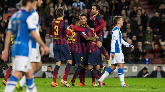 El Barça es va imposar per dos gols a zero a la Reial Societat. Font: fcbarcelona