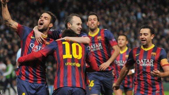 El Barça va guanyar 0 a 2 al Manchester City i va encarrilar l'eliminatòria contra l'equip anglès.