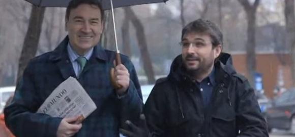 """Pedro J. Ramírez i Jordi Èvole van ser els protagonistes del """"Salvados"""" d'ahir."""